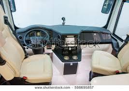 Luxury Caravan Interior Luxury Caravan Detail Photo Coach Stock Photo 598695854