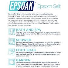 What Is 1 75 Bath by Amazon Com Epsoak Epsom Salt 19lbs Magnesium Sulfate Usp Bath