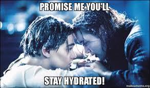 Drinking Water Meme - hydration meme challenge bites balance