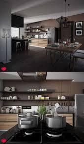 cuisine bois design cuisine bois et blanc moderne u2013 25 idées d u0027aménagement