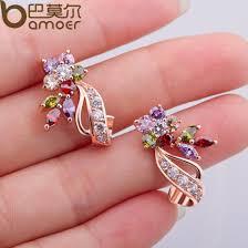 big stud earrings aliexpress buy bamoer gold color flower oversized big stud