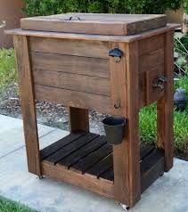 Patio Cooler Table Diy Outdoor Cooler Table Search Diy Pinterest