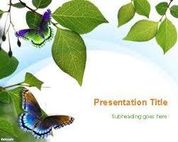 butterflies powerpoint templates