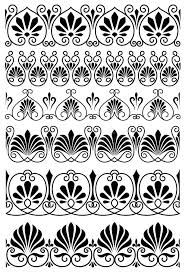 vintage black and white ornamental borders stock vector image