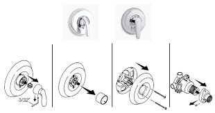 Kohler Shower Faucets Troubleshooting Removing Single Control Bath And Shower Trim