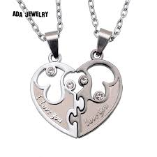 aliexpress love necklace images I love you couples lover pendant necklaces for women and men jpg