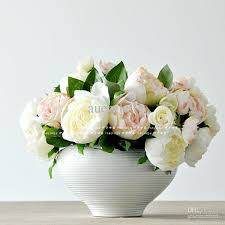 Wholesale Flower Vase Wholesale Artificial Flower Buy Beautiful Flower Set White