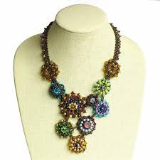 beaded jewelry necklace images Santa fe rose guatemalan beaded jewelry jpg