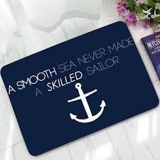 Welcome Doormats Creative Sailing Anchor Welcome Doormats Non Slip Carpet Bathroom