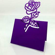 100pcs lot rose flower wedding table decoration place cards name