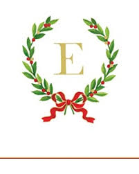 monogram christmas new savings on entertaining with caspari christmas laurel wreath