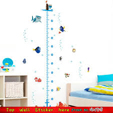 shark decals for walls promotion shop for promotional shark decals cartoon nemo shark turtle fish wall sticker for kids room height measure growth chart wall decal child bedroom wall art stickers