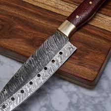 handmade damascus kitchen knife kch 20 evermade traders
