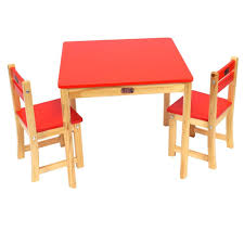 Table And Chair Sets Table And Chair Set Red Boab Toys