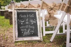 wedding chalkboard sign choose a seat not a side wedding decor