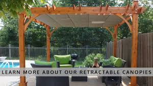 Homemade Gazebo Roof by Outdoor Living Today Pergola With Retractable Canopy Youtube