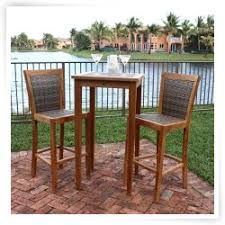 High Bar Table Set Outdoor Bistro Set And Outdoor Bar Sets