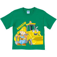 personalized scoop personalized bob the builder here goes scoop toddler green t