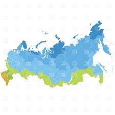 russia map after division russia administrative division map royalty free vector clip