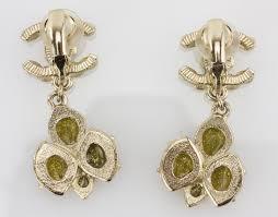 clip on dangle earrings chanel clip on cc dangle earrings pincher boutique