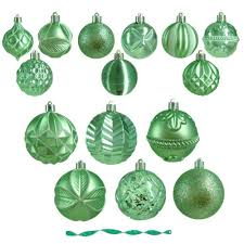 green christmas ornaments christmas tree decorations the