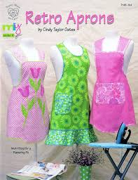 retro aprons pattern book by oates
