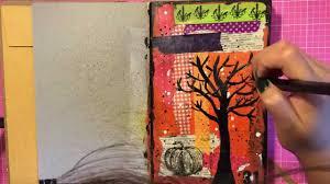 halloween journal halloween mixed media art journal page process video youtube