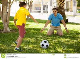 playing soccer with my dad stock photo image of soccer 34792706