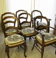 pottery barn french country style chairs ebth