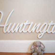 Wooden Nursery Decor Wooden Name Sign Diy Large Unpainted From Moon Snail Creations