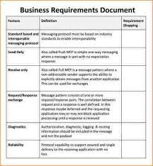 Resume Requirements 6 Business Requirements Document Template Academic Resume