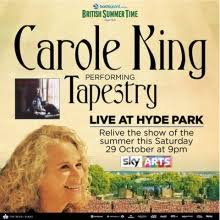 carole king s tapestry live at hyde park aired sat oct 29th on