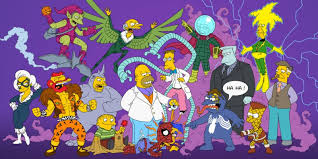 Haha Simpsons Meme - the simpsons as spider man characters alternate universe know