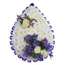tear drop wreaths designer tear drop shaped wreaths for funeral