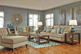 Benchcraft by Ashley Lochian Stationary Living Room Group Royal