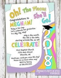 oh the places you ll go graduation party oh the places you ll go graduation invitation