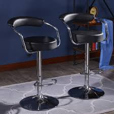 Wholesale Barber Chairs Los Angeles Modern Set Of 2 Bar Stools Leather Adjustable Swivel Pub Chair In