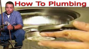 kitchen sink basket strainer install youtube
