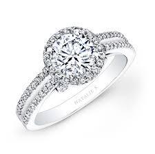 white diamonds rings images 18k white gold split shank halo white diamond enga jpg