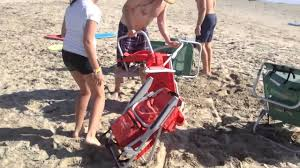 Best Beach Chair Backpack How To Close Beach Chair Backpack Youtube