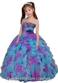 pretty dresses pretty multi colour strapless girl pageant dress with