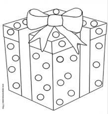 Coloriages de cadeaux des dessins de cadeaux à imprimer  Tête à
