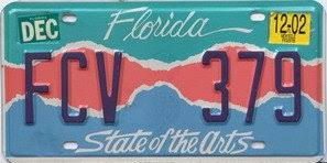 Florida Vanity Plate Cost Amazon Com Florida State Of The Arts License Plate Dark Blue