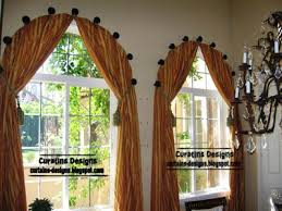 arched windows curtains on the hooks arched windows treatmentes
