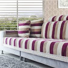 house canape striped corner sofa covers set chenille flocked sectional seat mat