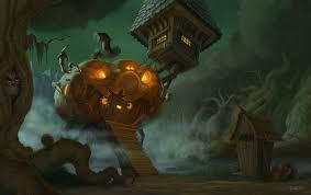 artstation aunt cronies halloween hut servando lupini