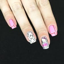 nail art phenomenal hello kitty nail art image design msg opi