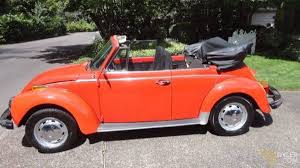 volkswagen orange classic 1974 volkswagen beetle cabriolet roadster for sale 1168