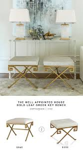 the well appointed house gold leaf greek key bench copycatchic