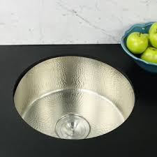 Kitchen Prep Sink by Shop For Highpoint Collection 18 Inch Round Hammered Undermount